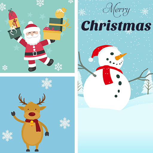 Christmas Grid Photo Collage 🌟 Layout Collage Icon