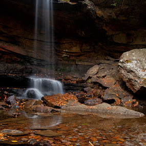 Cucumber Falls in Autumn by Andrew Boyd - Landscapes Waterscapes (  )