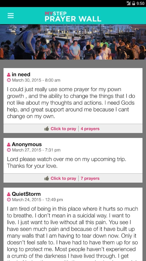 MYSTEP Prayer Wall- screenshot