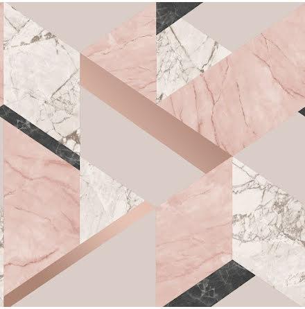 Fine Decor Marblesque geometrisk marmortapet
