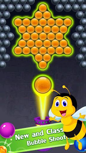 New Bubble Shooter Adventure Bee Bubble android2mod screenshots 4