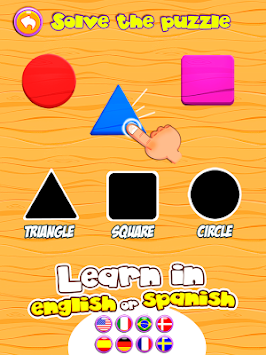 Dino Tim:Learn shapes & colors apk screenshot