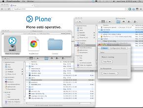 Photo: Plone on Maximiliano's Mac OS X system
