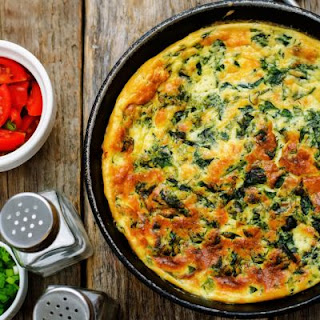 Spinach and Tomato Frittata.