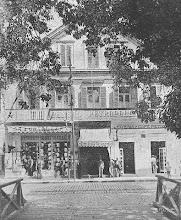 Photo: Pensão Petropolitana. Este prédio já não mais existe. Localizava-se na Rua do Imperador. Provavelmente foto do início do século XX