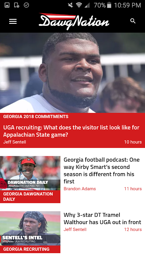 DawgNation Georgia Bulldogs- screenshot