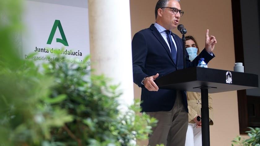 Elías Bendodo, este viernes en Málaga.