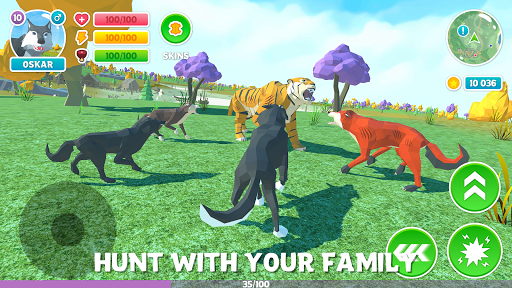 ud83dudc3a Wolf Simulator: Wild Animals 3D Family Game 1.9 screenshots 1