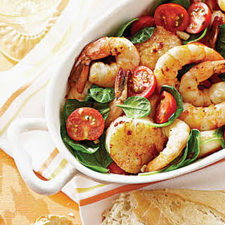 Broiled Shrimp and Scallops.