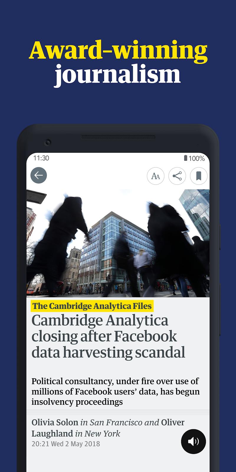 The Guardian: Top Stories, Breaking News & Opinion Screenshot 0