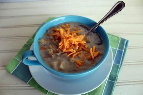 "Crock Pot Potato Bacon Soup ""This recipe makes A LOT of soup...."