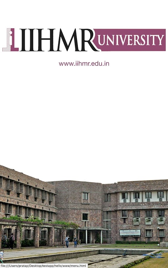 IIHMR UNIVERSITY- screenshot