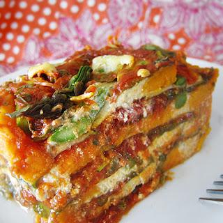 Gluten-Free, Dairy-Free Vegetable Lasagna.