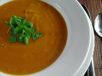 """Creamed Potato and Pumpkin Soup"""
