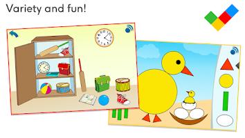 Screenshot of Math for children, age 3-5