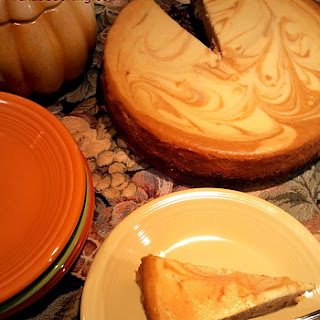 Pumpkin Marble Cheesecake.