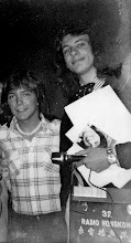 Photo: With trusty 'Uher' tape machine interviewing David Cassidy for RAdio Hong Kong 1974.