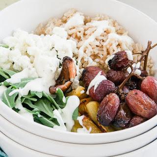 Roasted Grape, Arugula & Goat Cheese Nourish Bowl