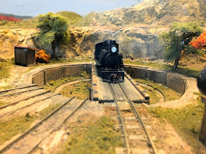 Photo: 097 The very atmospheric and well constructed turntable on John Spratley's FC Del Rio Palpo .