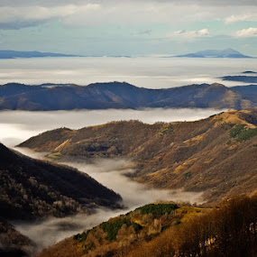 Above all by Dejan Ilijic - Landscapes Mountains & Hills ( inversion, mountain, autumn, fog )
