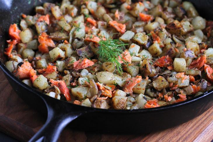 Smoked Salmon & Dill Breakfast Hash Recipe | Yummly