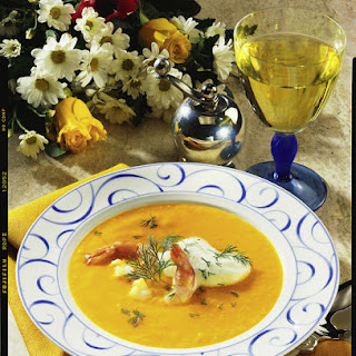 Carrot Soup with Prawns