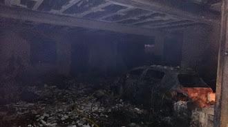Sótano de la vivienda en el que se ha originado el incendio.