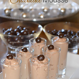 Chocolate Mousse with Dove Fruit.