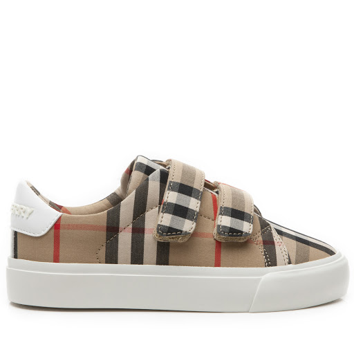 Thumbnail images of Burberry Mini Markham Strap Trainer