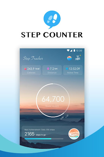 Step Tracker - Pedometer, Daily Walking Tracker Fitness app screenshot 1 for Android