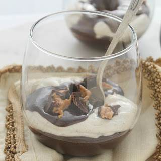 Peanut Butter Mousse with Dark Chocolate Ganache.