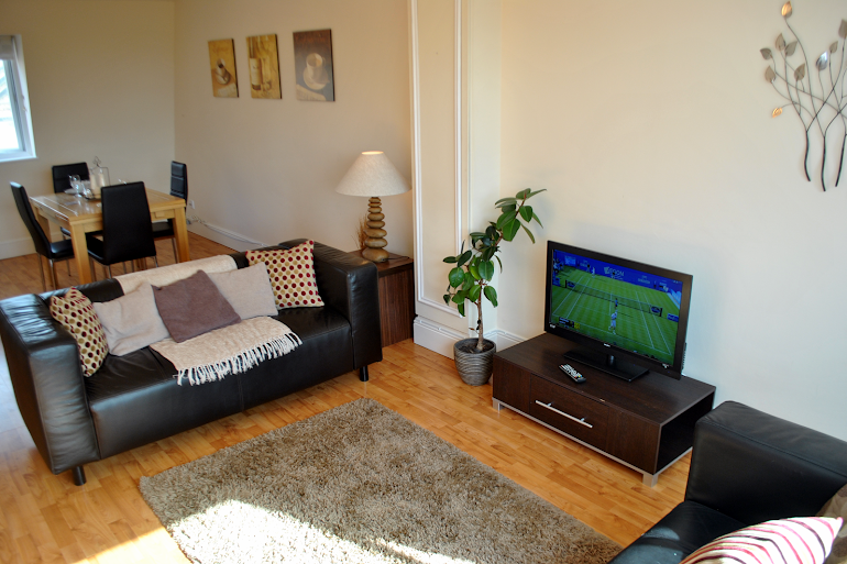 Living area at St Leonards Road