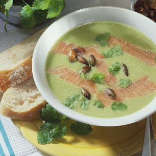 Nettle Bisque with Salmon