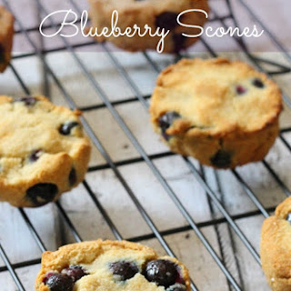 Grain Free Blueberry Scones Recipe (Paleo).