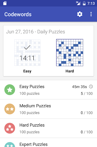 Codeword Puzzles (Crosswords) 3.10 screenshots 3