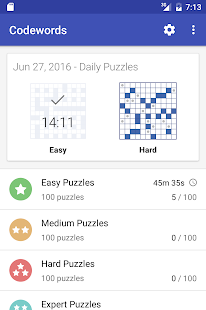 Codeword Puzzles (Crosswords)- screenshot thumbnail