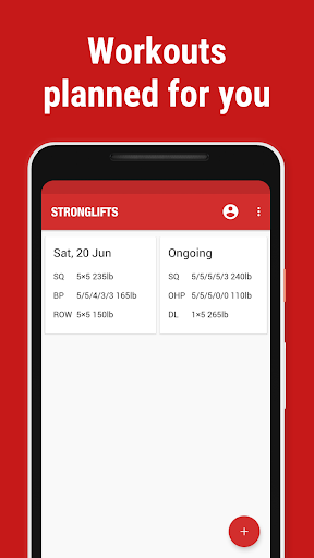 Stronglifts 5x5 - Weight Lifting & Gym Workout Log by