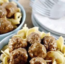 Meatballs & Mushroom Soup Recipe