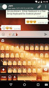 Golden Mars Emoji Keyboard - náhled