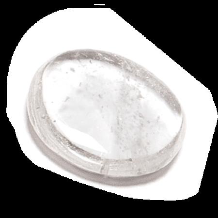 Bergkristall slipad platta