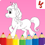 Unicorn coloring book for kids APK icon