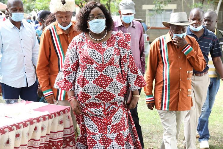 Mama Ida Odinga and nominated MP Maina Kamanda