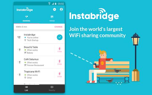 Instabridge - Free WiFi Passwords and Hotspots screenshot 1