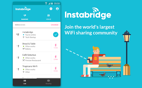 Instabridge - Free WiFi Passwords and Hotspots- screenshot thumbnail