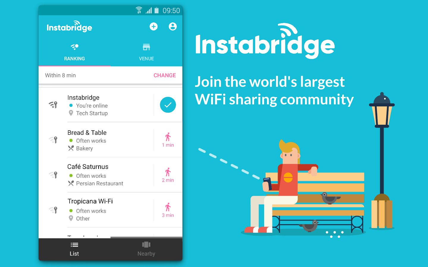 Instabridge - Free WiFi Passwords and Hotspots- screenshot
