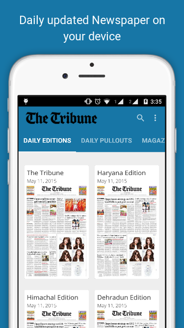 The Tribune, Chandigarh, India- screenshot
