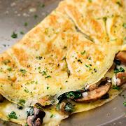 Spinach-Mushroom Omelette