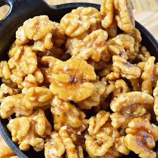Easy Maple Glazed Walnuts Recipe (Paleo).