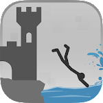 Stickman Flip Diving Icon