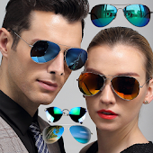 Stylish Glasses Photo Montage